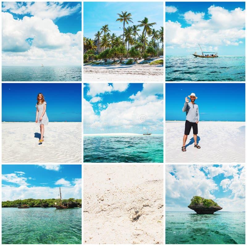 Kvinna och man i semester i Zanzibar royaltyfria foton
