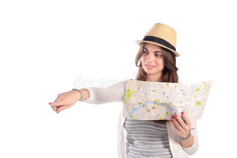 Kvinna på en tur arkivfoto