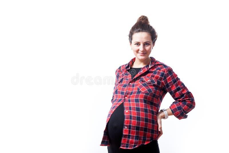 Kvinna på hennes sista havandeskap arkivbilder