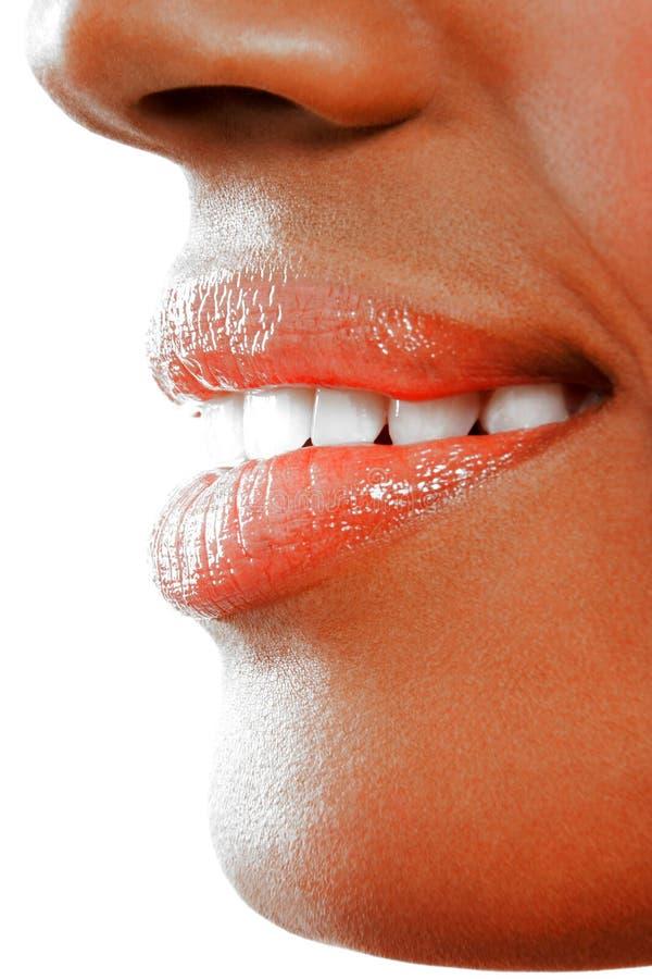 Download Kvinna Som Ler Med Mycket Vita Sparkly Tänder Fotografering för Bildbyråer - Bild av gladlynt, joyful: 78729883