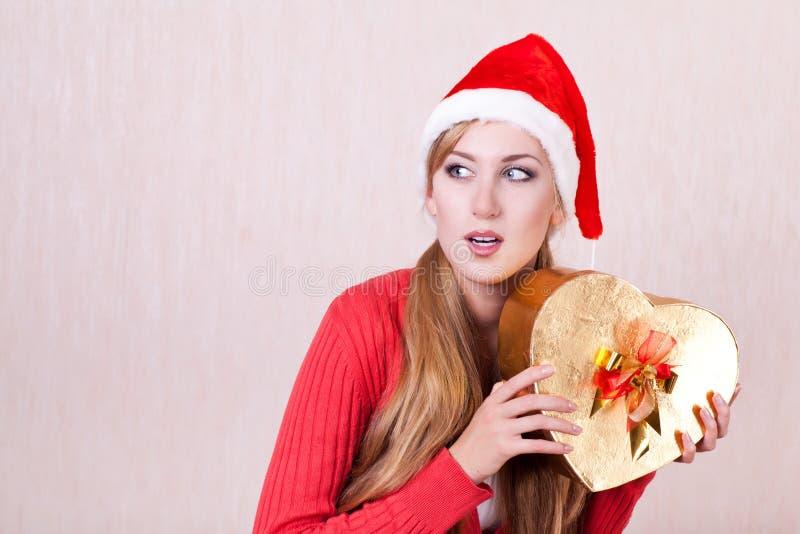 Download Kvinna Som Slitage Den Santa Claus Hatten Arkivfoto - Bild av hatt, makeup: 27287616