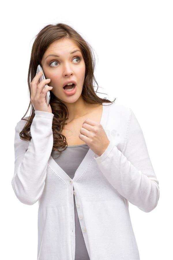 Download Kvinna Som Talar På Telefonen Arkivfoto - Bild av samlag, skrämsel: 37344424