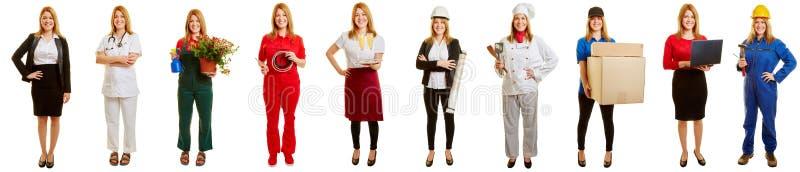 Kvinna som tar ett karriärval royaltyfri foto