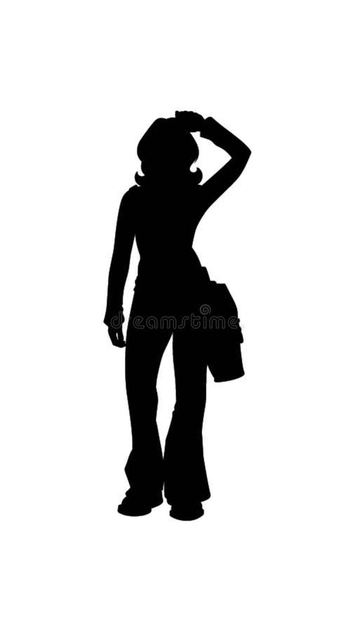 Kvinna som ut går illustration vektor illustrationer