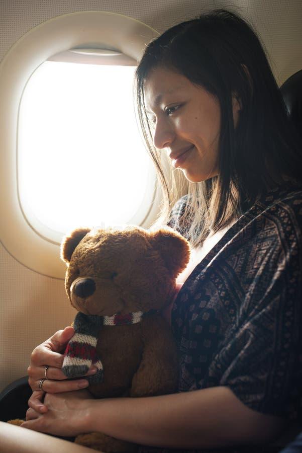 Kvinna Teddy Bear Loveable Toy Concept arkivfoton