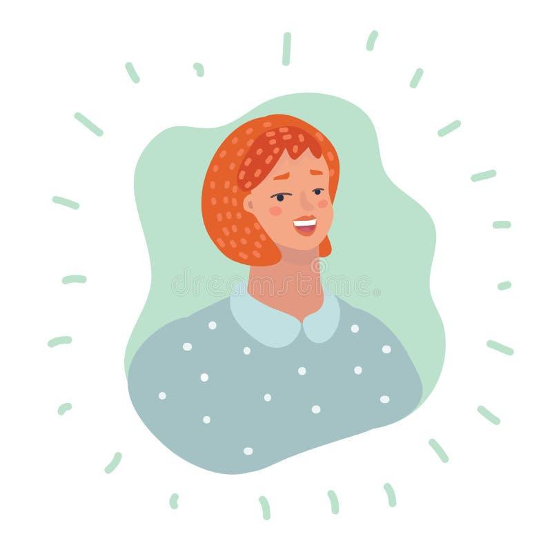 Kvinnaanvändaresymbol - personprofilAvatar royaltyfri illustrationer