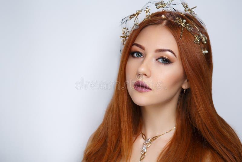 Kvinnaapelsinhår royaltyfri fotografi