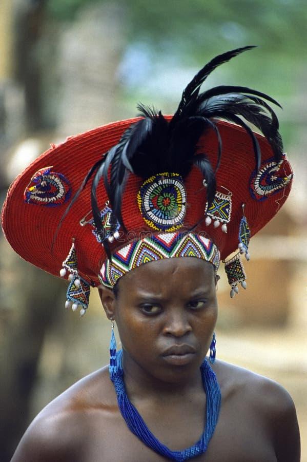 kvinnabarnzulu royaltyfria bilder