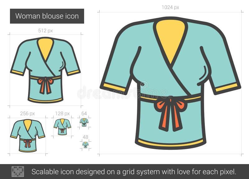 Kvinnabluslinje symbol vektor illustrationer