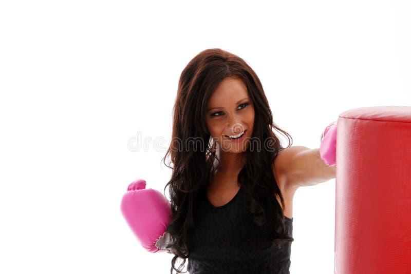 Kvinnaboxning royaltyfri fotografi