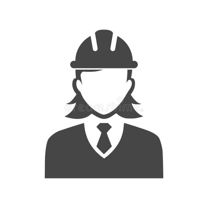 Kvinnabyggnadsarbetaresymbol vektor illustrationer