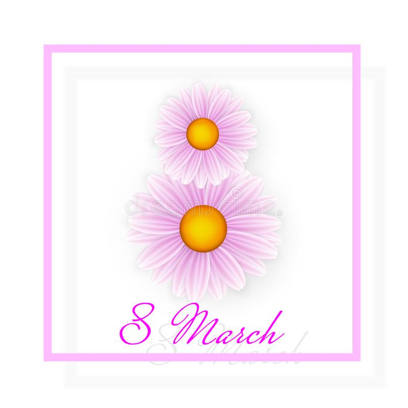 Kvinnadagbakgrund med ramblommor 8 inbjudankort för marsch också vektor för coreldrawillustration vektor illustrationer