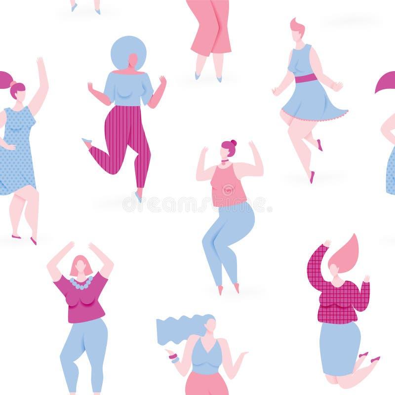Kvinnadans stock illustrationer