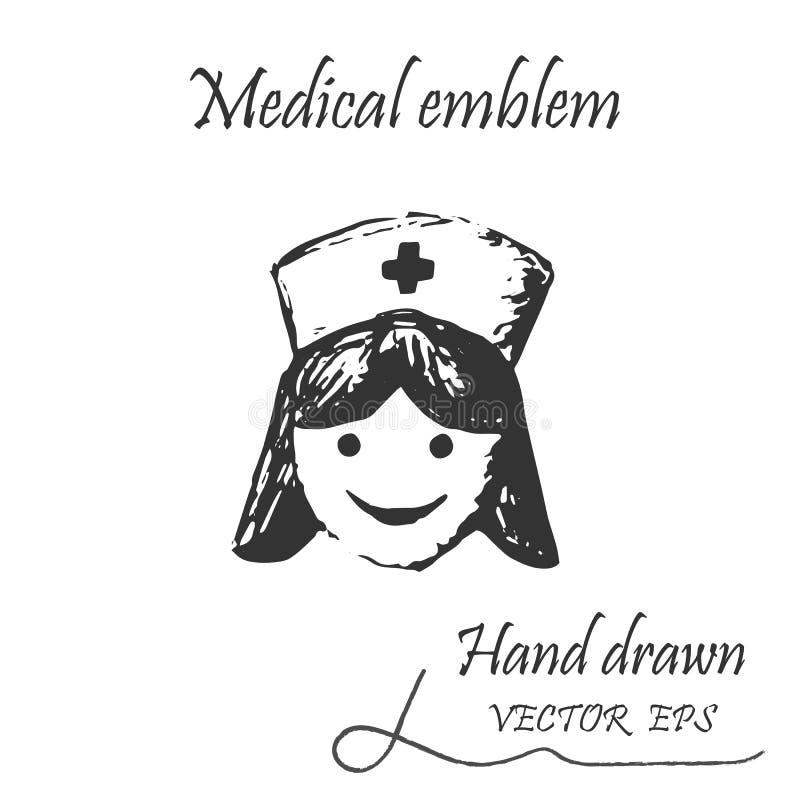 Kvinnadoktor Icon stock illustrationer