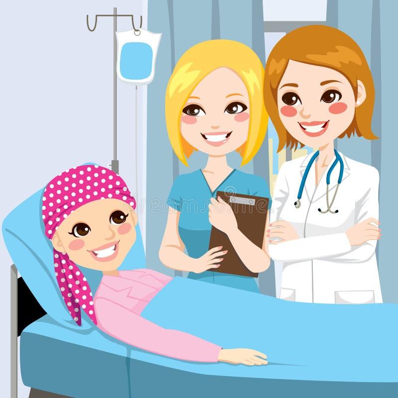 Kvinnadoktor Visit Young Girl royaltyfri illustrationer