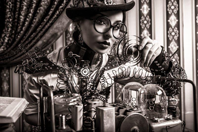 Kvinnaforskare Fotografering för Bildbyråer