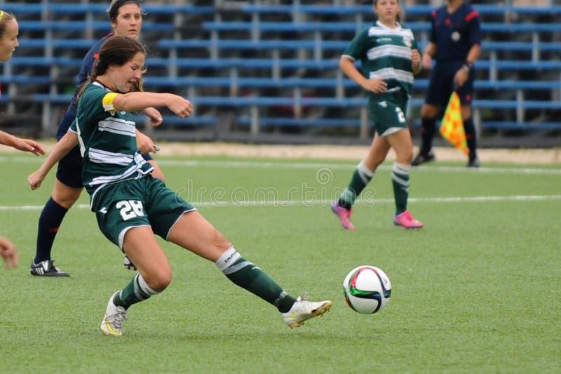 Kvinnafotbolllek arkivbild