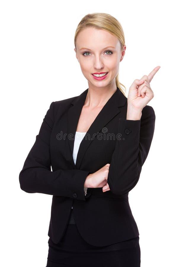 Kvinnafunderare av idén royaltyfria foton
