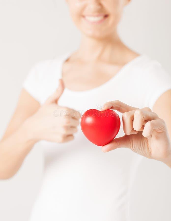Kvinnahänder Med Hjärta Arkivfoto