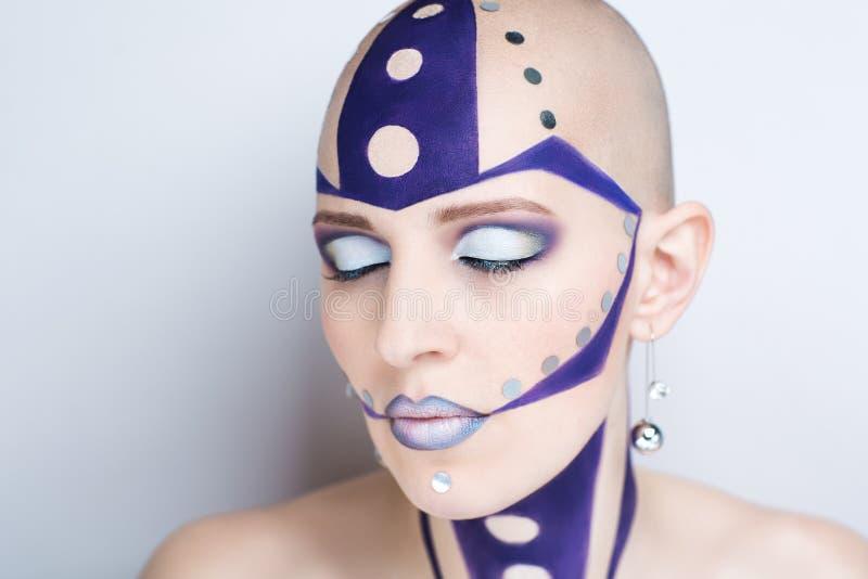 Kvinnakonstsmink fotografering för bildbyråer