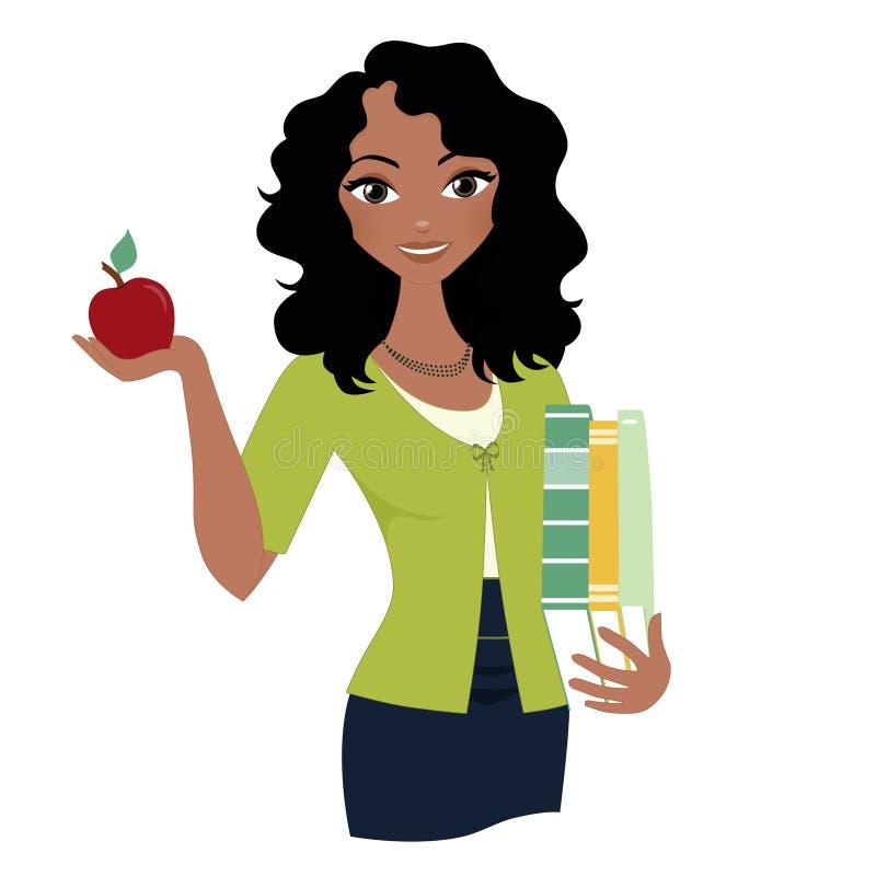 Kvinnalärare royaltyfri illustrationer