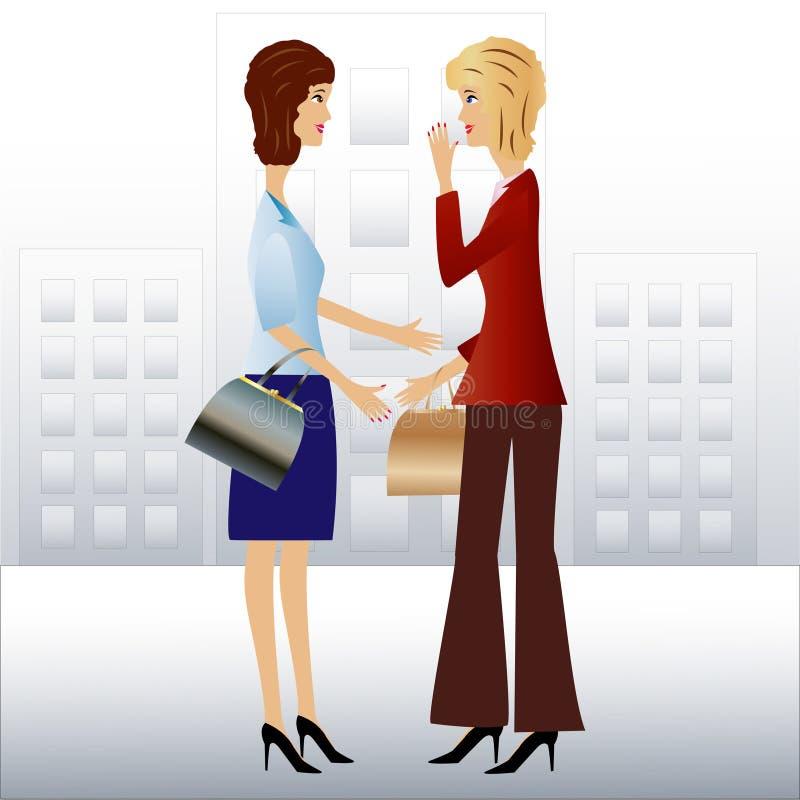 Download Kvinnan För Affär Två Talar Vektor Illustrationer - Illustration av hår, affär: 37344220