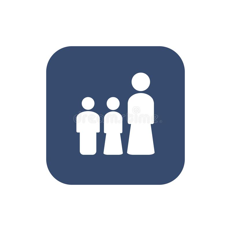 Kvinnan och hennes barnsymbol ställde in illustrationen för begreppsdesignen vektor illustrationer