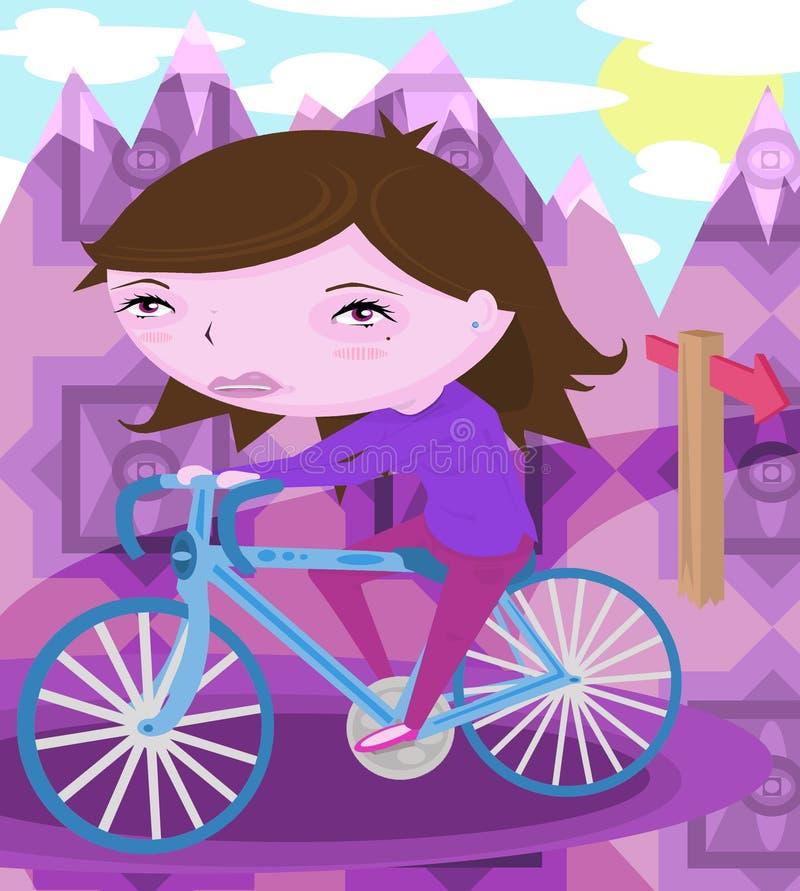 Kvinnaridningcykel fotografering för bildbyråer