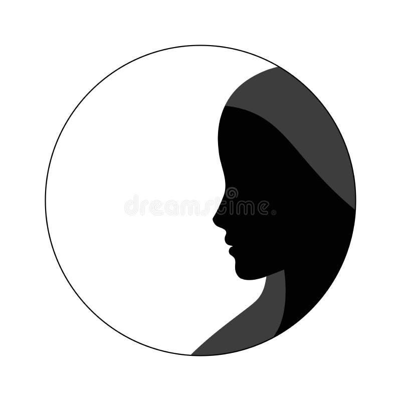 Kvinnasilhouette vektor illustrationer