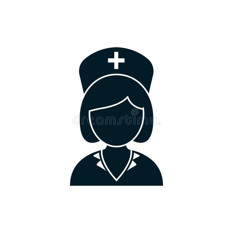 Kvinnasjuksköterskasymbol royaltyfri illustrationer