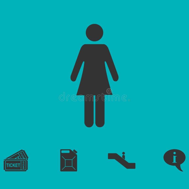 Kvinnasymbolslägenhet vektor illustrationer