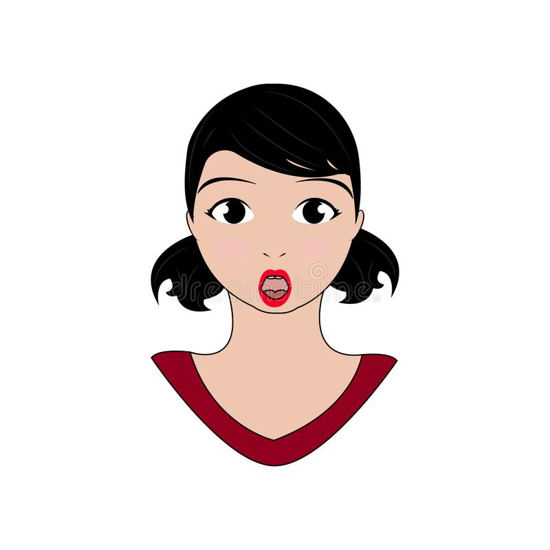 Download Kvinnauttrycksframsidor vektor illustrationer. Illustration av manlig - 106831780