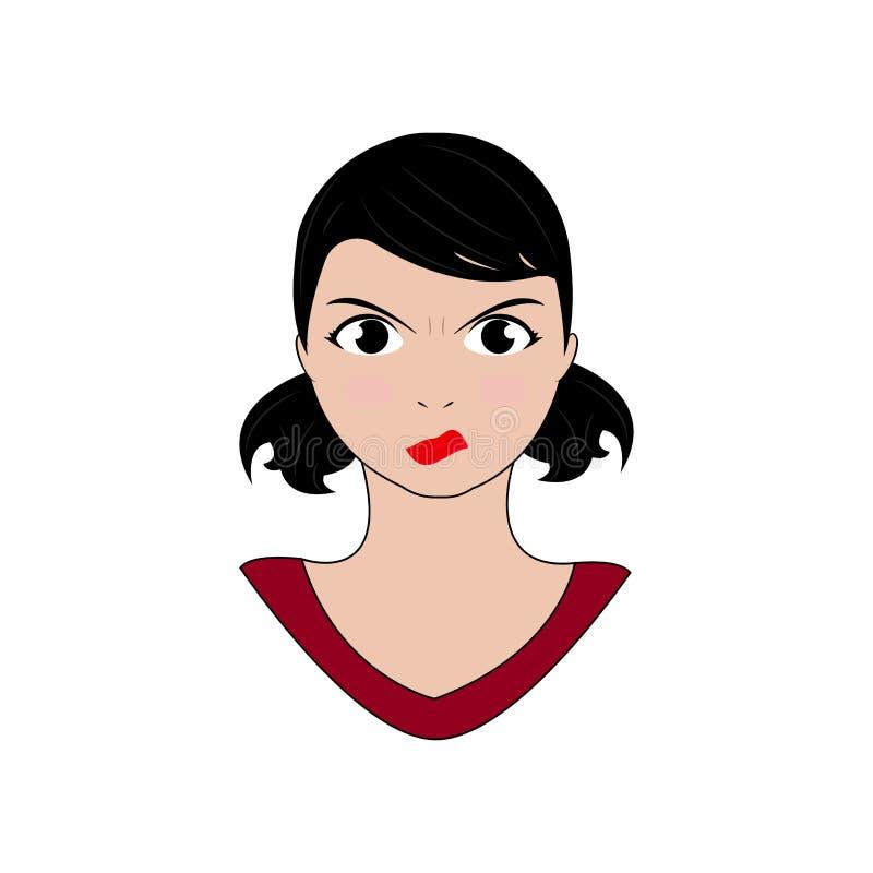 Download Kvinnauttrycksframsidor vektor illustrationer. Illustration av person - 106831789