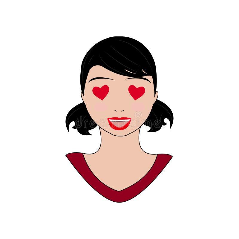 Download Kvinnauttrycksframsidor vektor illustrationer. Illustration av uttryck - 106831831