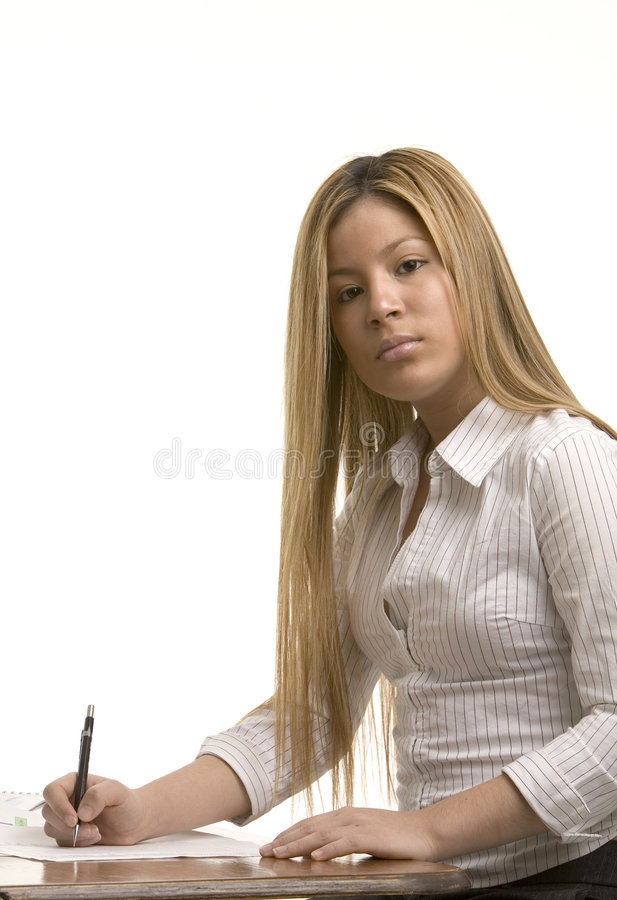 kvinnawriting arkivbilder