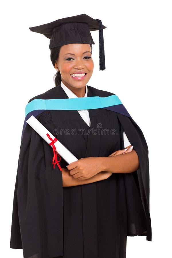 Kvinnlig afrikankandidat arkivfoto
