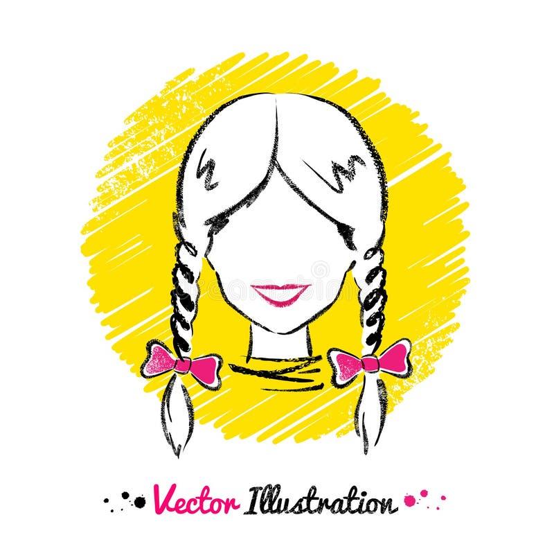 Kvinnlig avatar royaltyfri illustrationer
