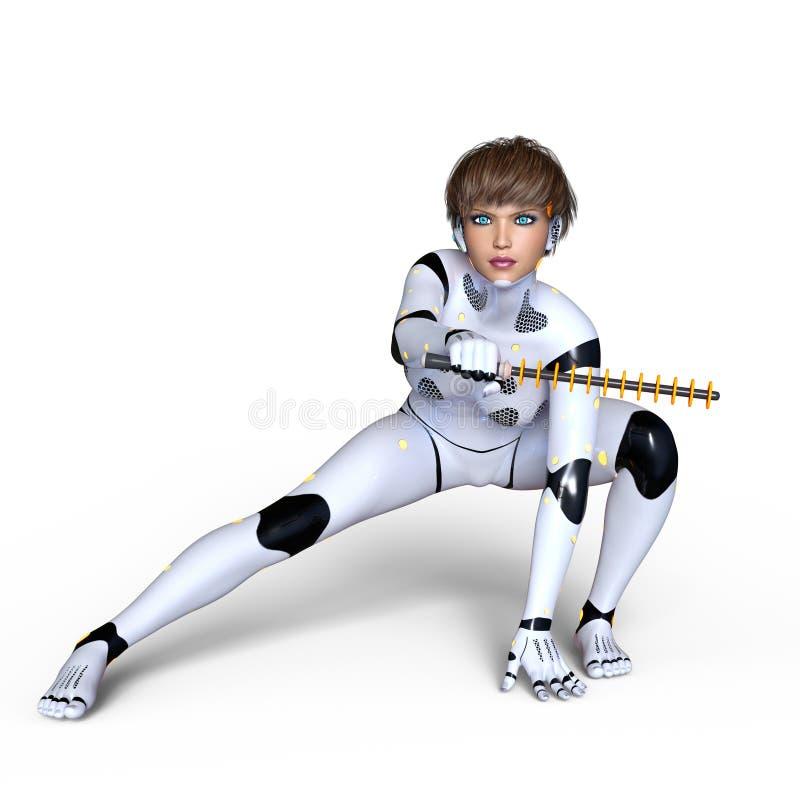 Kvinnlig Cyborg royaltyfria bilder