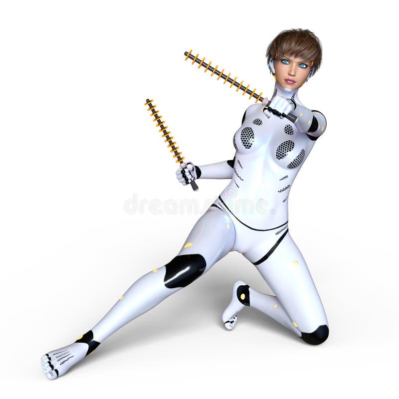 Kvinnlig Cyborg arkivbild