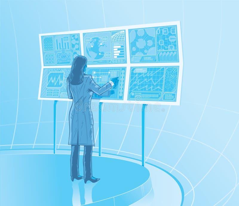 Kvinnlig forskare vektor illustrationer