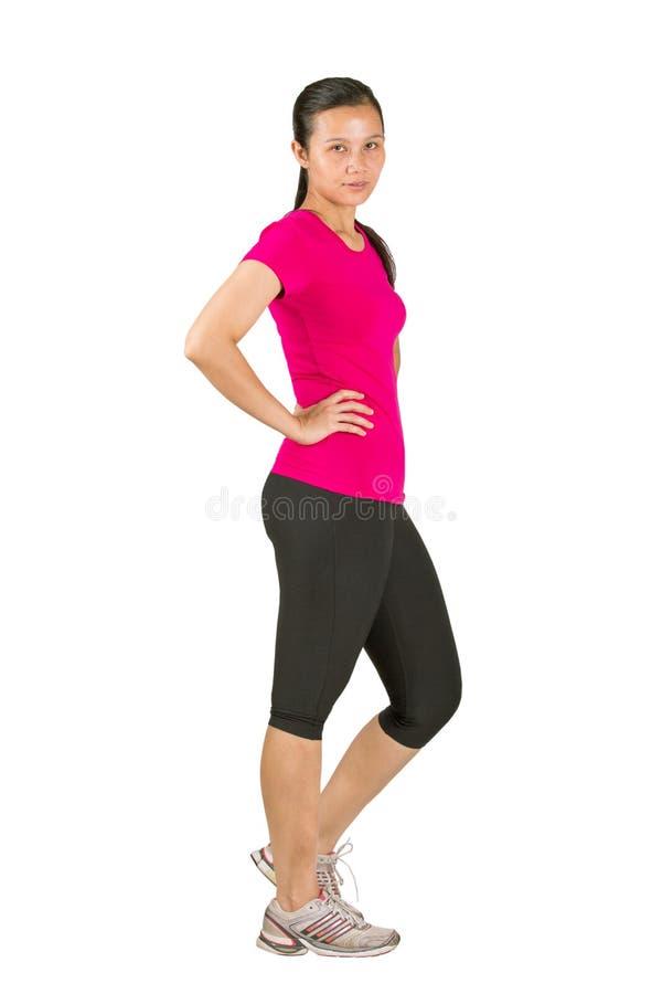 Kvinnlig, i att jogga dress III fotografering för bildbyråer