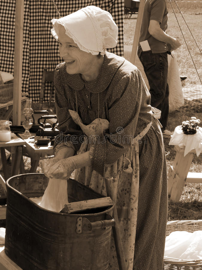 Kvinnlig inbördeskrig Reenactor royaltyfri foto