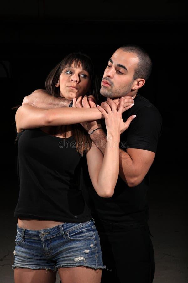 Kvinnlig instruktör för kampsportar arkivfoto