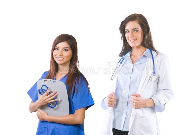 kvinnlig isolerad medicinsk lagwhite royaltyfri foto