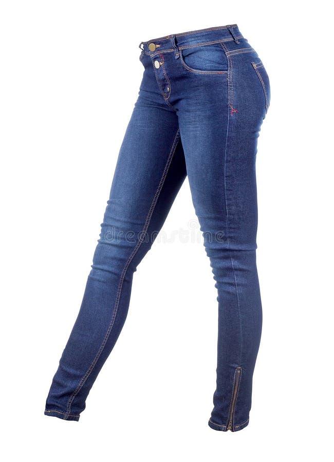 Kvinnlig jeansbyxa arkivbilder