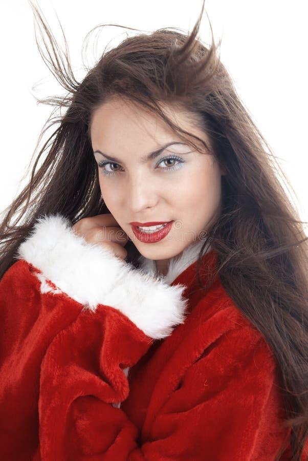 Kvinnlig jultomten royaltyfri bild