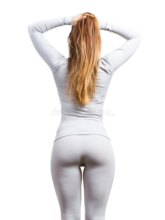 Kvinnlig kropp som bär den thermoactive underkläderna royaltyfria foton