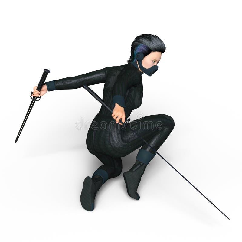 Kvinnlig ninja royaltyfria foton