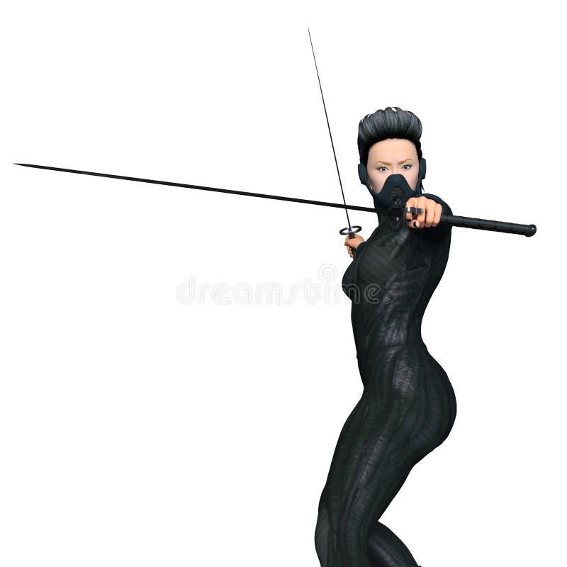 Kvinnlig ninja arkivbilder