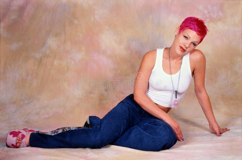 Kvinnlig sångare Pink fotografering för bildbyråer